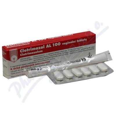 Clotrimazol AL 100 tbl.vag.6x100mg+apl.