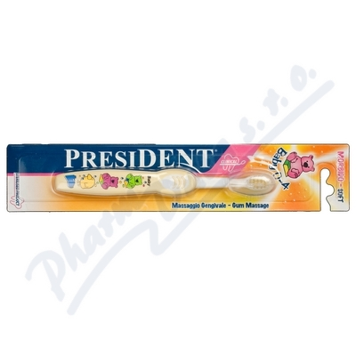 PRESIDENT dětský zubní kartáček Baby 0-4roky Soft