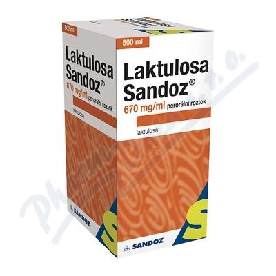 Laktulosa Sandoz 670mg/ml por.sol.1x500ml/335g IIA