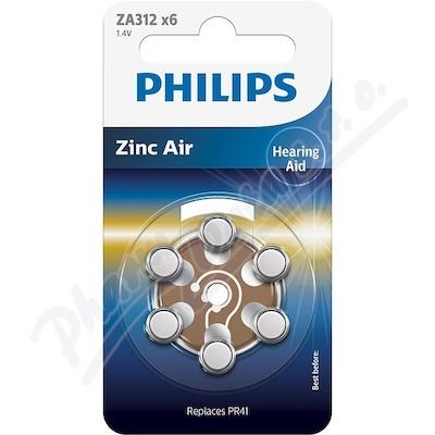 Baterie do naslouchadel PHILIPS ZA312B6A/00 6ks