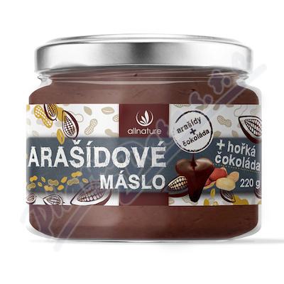 Allnature Arašídové máslo s hořkou čokoládou 220g
