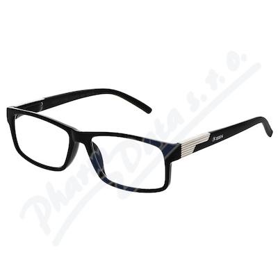 Brýle čtecí +2.00 černé s kovovým doplňkem FLEX