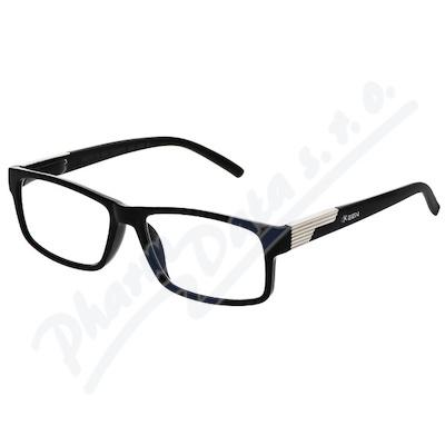 Brýle čtecí +2.50 černé s kovovým doplňkem FLEX