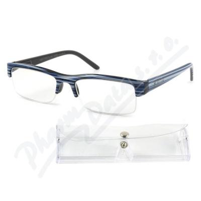 Brýle čtecí +1.00 modro-černé s pouzdrem FLEX