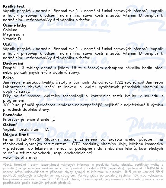 JAMIESON Vápník hořčík s vitamínem D3 tbl.120
