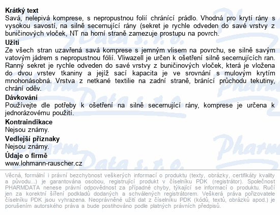Komprese Vliwazell ster.vys.absorp.20x20cm 30ks