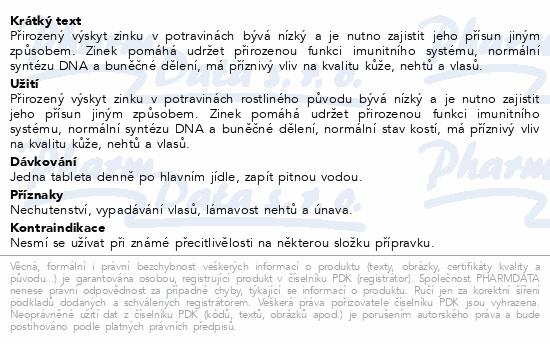 Zinek tbl.30x15mg Galmed