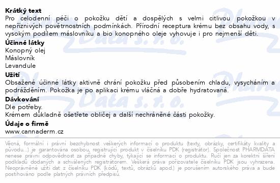 Cannaderm Robátko ochranný krém 50g