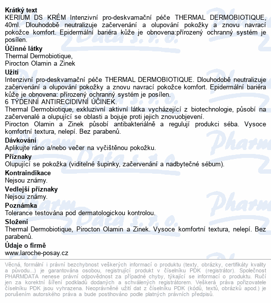 LA ROCHE-POSAY KERIUM DS Krém 40ml